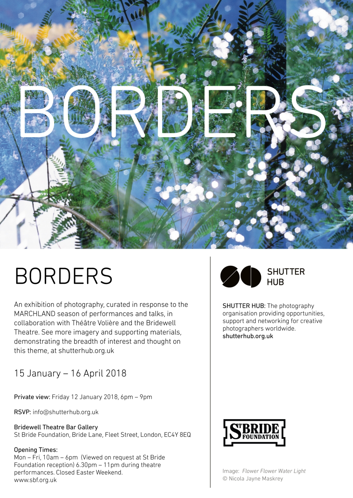 Details of the Shutterhub Borders exhibition